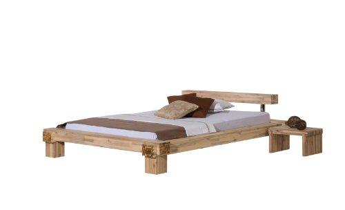 Modular Bett La Paz, Akazie massiv, weiss lasiert