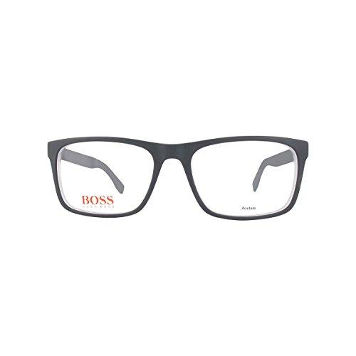 Boss orange brillegestelle bo0248-qdk17-54, montature uomo, nero (black ruthenium), 54