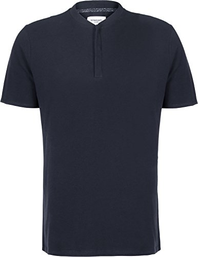 Nowadays Bomber Collar Polo Blau