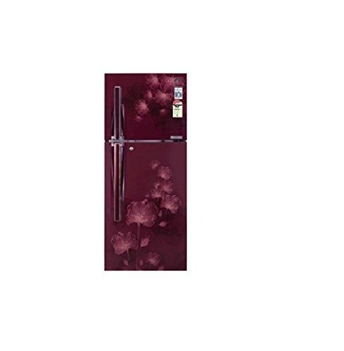 LG 310 L 4 Star Frost-Free Double Door Refrigerator (GL-D322JSFL, Scarlet Florid)