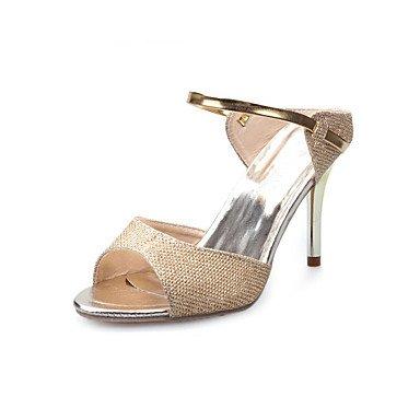 LvYuan Sandalen-Kleid Lässig-PU-Stöckelabsatz-Komfort-Weiß Silber Gold Gold