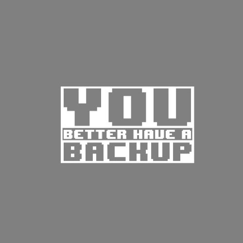 You better have a Backup - Stofftasche / Beutel Pink
