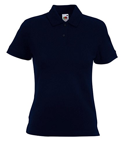 Fruit of the Loom Damen Poloshirt Polo Lady-Fit Deep Navy