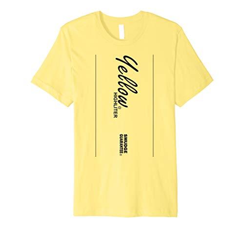 Gelb Textmarker Stil Halloween-Kostüm T-Shirt