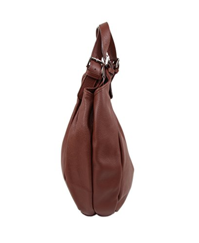 8bc9f9838a278 ... SLINGBAG Simone XL Shopper   Schultertasche   Beuteltasche aus hochwertigem  Leder   FARBAUSWAHL (Braun) ...