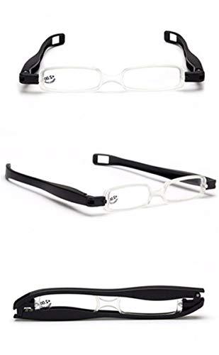 Preisvergleich Produktbild Xeb klappbare Faltbrille aus MetallMini BrilleKompakte Leichte Lesebrille miniDrehbare klappbare Lesebrille tragbar,  300. schwarz