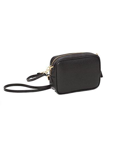 Winter & Co. Minibag kleine Umhängetasche Schultertasche Handtasche Damen schwarz aus edlem Leder handgefertigt in Italien (Prada Die Frau, Taschen Für)