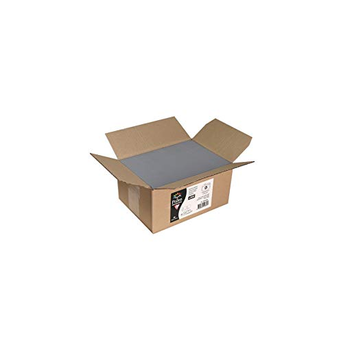 Clairefontaine 55635C Packung mit 200 Umschläge Pollen, 110 x 220mm, haftklebend, 1 Pack, Stahlgrau