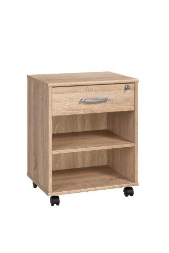 Möbel Sonoma (MAJA-Möbel 4025 5525 Rollcontainer, Sonoma-Eiche-Nachbildung, Abmessungen BxHxT: 45,6 x 59,1 x 36 cm)