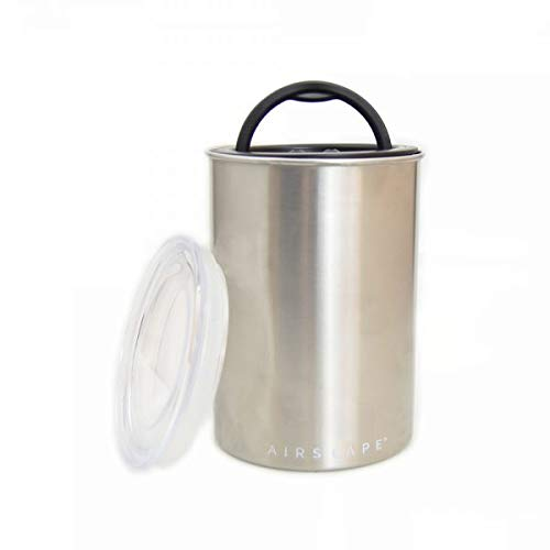 AirScape Vakuumdose Edelstahl 600 gr. (poliert/Polished) Kaffeedose 64oz (1900 ml)