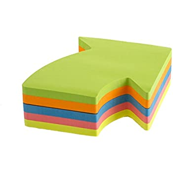 Post It Arrow Shaped Notes Pad Of 225 Sheets Neon Orange