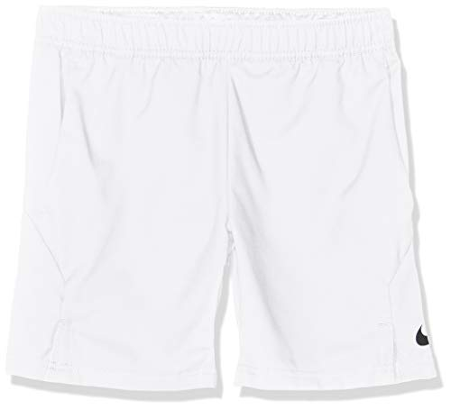 Nike Jungen Court Dri-FIT Tennisshorts, White (Black), S (Short Tennis Dri-fit)