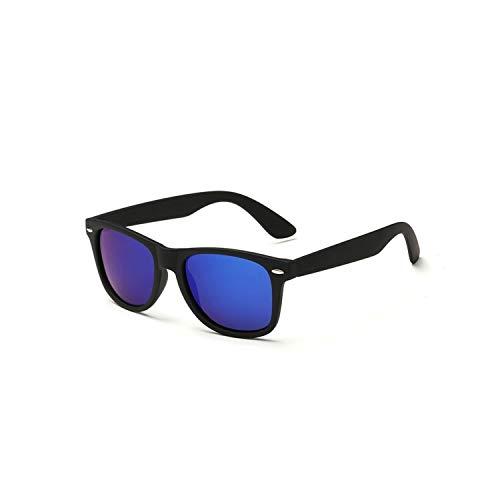 Sport-Sonnenbrillen, Vintage Sonnenbrillen, NEW HD Polarisiert Sunglasses Men Women Vintage BRAND DESIGN Square Frame Driving Eyewear For Male Rays Sun Glasses Goggle UV400 black F dark blue