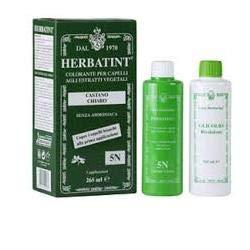 teinture pour les cheveux coloration permanent sans ammoniaque Herbatint 265 Ml tridose N. 4 N couleur brun
