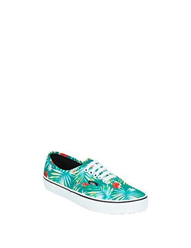 Vans UA Authentic, Sneakers Basses Homme (decay Palms) Baltic/true White