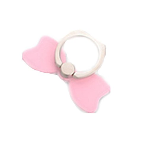 TBOP PHONE RING BUCKLE THE BEST OF PLANET SIMPLE & STYLISH ring buckle bracket metal BOW ring universal lazy men and women anti-slip non-slip couple models behind the ring buckle in pink color