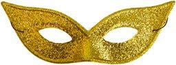 morris costumes Harlequin Mask Lame Gold (máscara/careta)