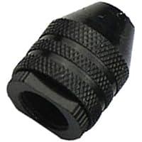 UKCOCO Keyless Black Mini aleación 3-Jaw Drill Chuck Drilling Adapter Converter Adaptador SDS para sostener 0.3-3.2mm Drill Bits Converter Tool Brocas manuales de mano (M8x0.75mm Short)