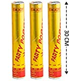 Enjoy Golden Party Poppers 30cm Long for Birthday Party/Anniversary Party/Celebration Any Occasions (Pack of 3)