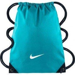 Fundamentals Gymsack Swoosh Nike-Borsa sportiva da uomo, taglia unica, UOMO, Fundamentals Swoosh Gymsack, Azul (Omega Blue / Negro / (White), S