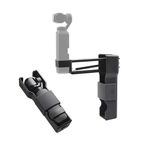 iEago RC Handheld Z-Achsen-Stabilisator Anti Shock Einbeinstativ mit Tragetasche Portable Storage Shell für DJI OSMO Pocket Zubehör (Kamera-Handyhalter)