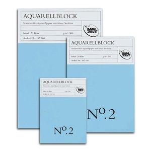 Aquarellblock No. 2 - 24 x 32 cm - 20 Blatt - 300 g/m²