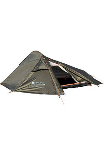 Mountain Warehouse 2-Personen-Zelt für Rucksackreisende - wasserabweisend,
