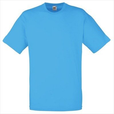 Fruit of the Loom - Classic T-Shirt \'Value Weight\' Large,Azure Blue