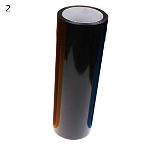 nieliangw0q 2 Stücke Auto Auto Nebelscheinwerfer Scheinwerfer Rücklicht Tönung Vinyl Film Blatt Aufkleber - Cool Black