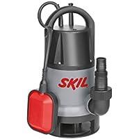 Skil 0810AA Pompe à eau Submersible / Immergée pour Pompe Eaux Chargée (500W, 10m Câble, avec Flotteur et Raccord universel)