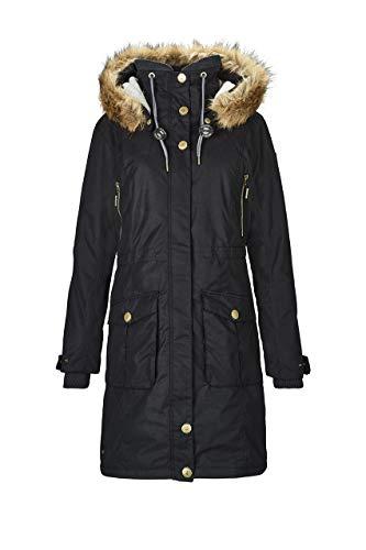 G.I.G.A. DX Damen Dokama Funktionsjacke/Parka/Winter Mantel Mit Abknöpfbarer Kapuze, Wassersäule 8000 Mm, schwarz, 36