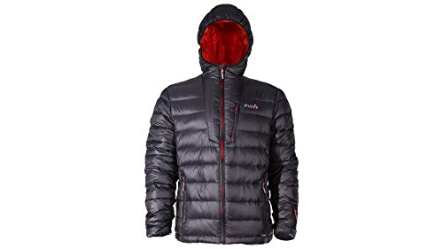 iFLOW Herren Peak Mountain Charcoal Man Jacke, Charcoal/Red, M (Iq-ski Alpin)