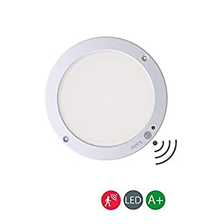 Kaday 18W Plafoniere da sensore di Movimento LED lampada da soffitto Pannello Luce 3000K Bianco Caldo Ultrasottili Downlight Orientabili Panel Light(Bianco Caldo)