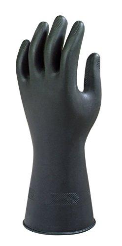 Nopea Industrie Handschuhe Gummi Handschuhe Latex Handschuhe chemikalienbeständigkeit Industrie Ellenbogen Handschuhe1 Paar Schwarz