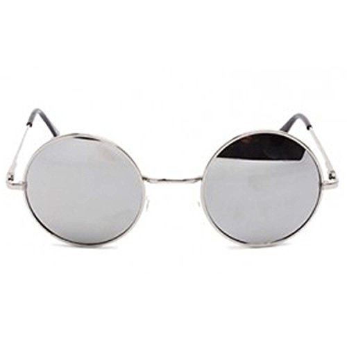 ff6d5b1d590 87% OFF on Younky Round Mirrored Unisex Sunglasses (Round-Silver-003 ...