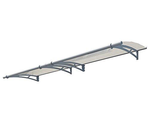 Palram Vordach, Regenschutz, Überdachung Aquila 3000 klar // 300x92 cm (BxT) // Pultvordach und Türüberdachung