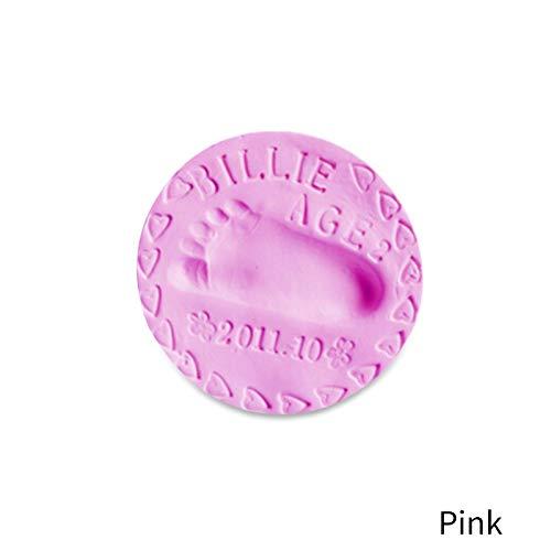 TickTocking Baby Handabdruck-Set Fußabdruck für Neugeborene Mädchen und Jungen, einzigartiges Geschenk für Babyparty Einheitsgröße rose - Handabdruck-set