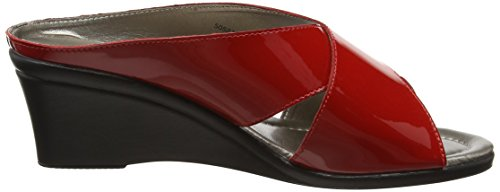 Lotus Trino, Mules Femme Red (red Patent)
