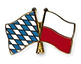 Yantec Freundschaftspin Bayern - Polen Pin Anstecknadel Doppelflaggenpin