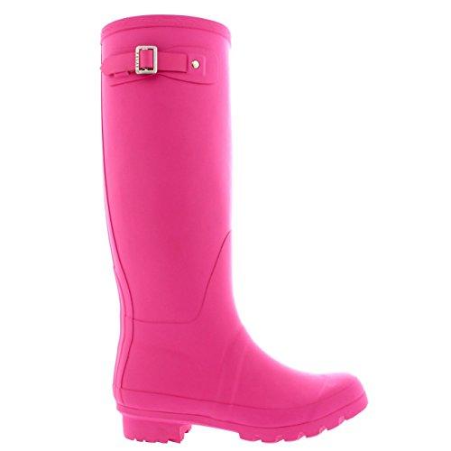 Damen Original Tall Schnee Winter Regen Wellies Gummistiefel Stiefel Rosa