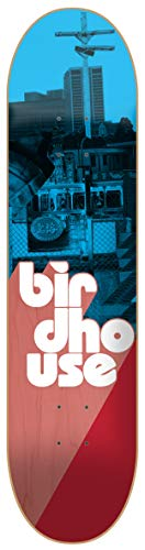 Birdhouse Skateboard-Deck Stacked - 8 Inch Blau-Rot (One Size, Blau)
