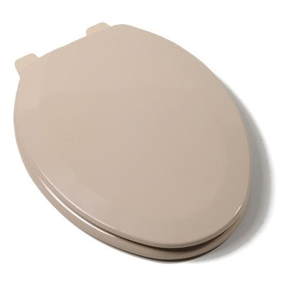 Comfort Seats C1B4E230 Deluxe Molded Wood Toilet Seat, Elongated, Fawn Beige by Comfort Seats