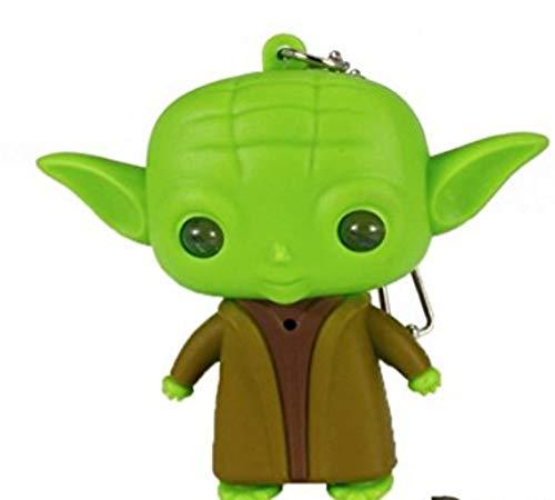 Yoda Llavero con luz LED y Sonido, pequeños Regalos