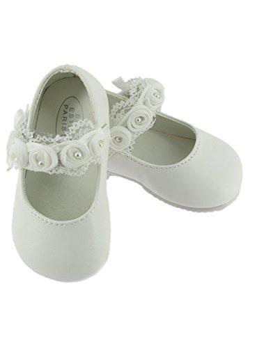 Boutique-Magique Chaussures Blanches Bébé Avec Dentelle - Blanc - 20
