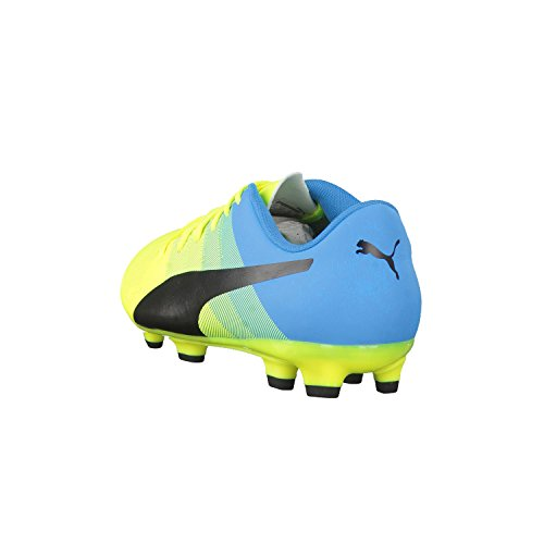 Puma Evopower 4 3 Fg, Chaussures de football homme safety yellow-black-atomic blue