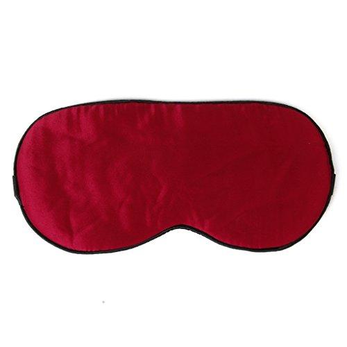 Ojo Parche Mascara Antifaz Dormir Seda Pura Lavable Suave Correa Rojo Eye Patchs