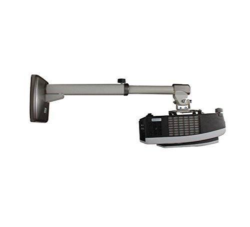 B-TECH BT884-M/W Wandhalterung mit justierbarem Arm für Nah-Distanz-Projektor (Belastbarkeit bis 10kg, von 400 bis 575mm) weiß