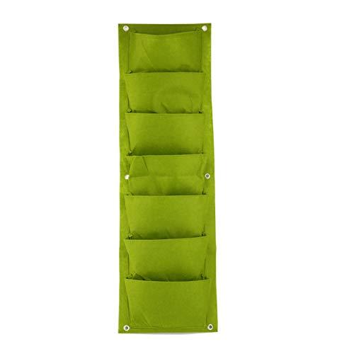hongirt 96 * 30 centimetri verde giardino verticale piantatrice a parete piantare fiore grow bag 7 tasca vegetale living garden bag forniture per la casa (colore: verde)
