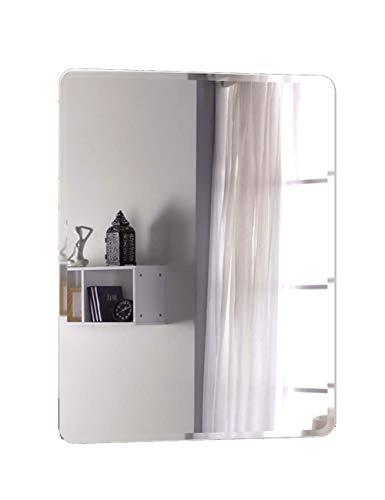 Wysm Badezimmer-Spiegel-Make-upwand-hängenden Behandlungs-Toiletten-Badezimmer-einfache Rahmenlose Spiegel-Wand-europäische explosionssichere Runde Ecke (größe : 40cm*60cm) -