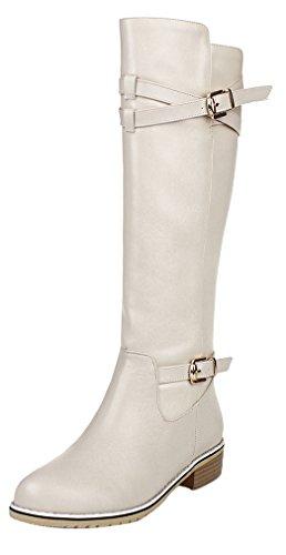 elehot-femme-eleborder-plat-3cm-souple-bottes-blanc-40